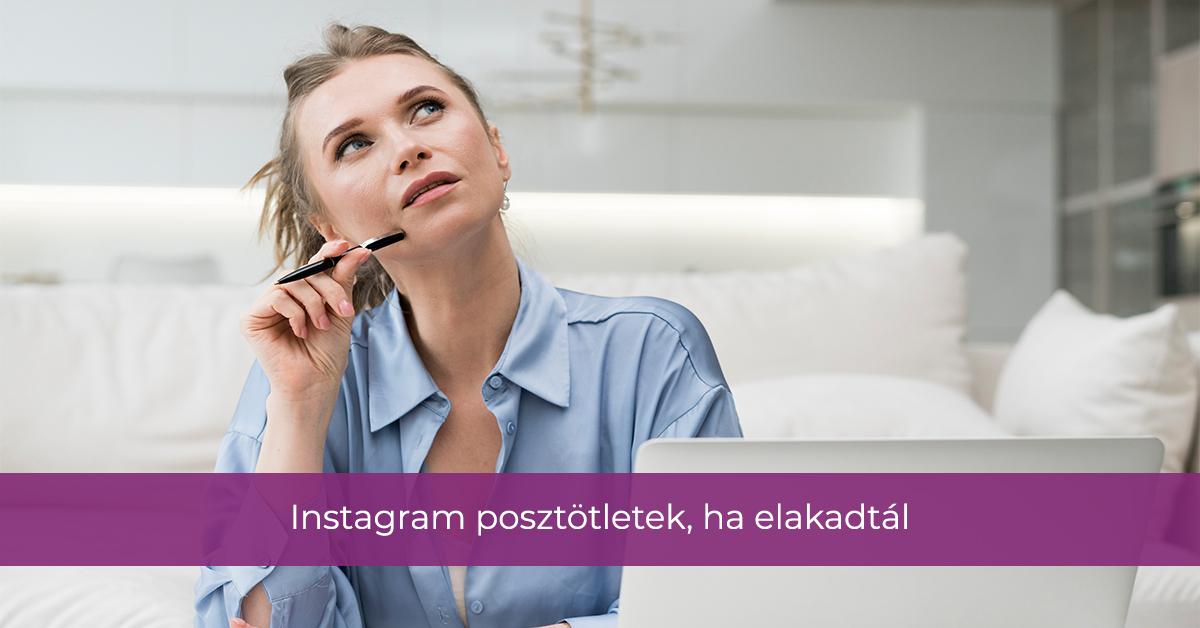 Instagram posztötletek, ha elakadtál